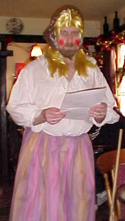 Photo of man dressed as woman - the betsy character