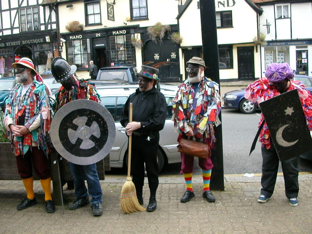Photograph of the Herga Mummers in Pinner